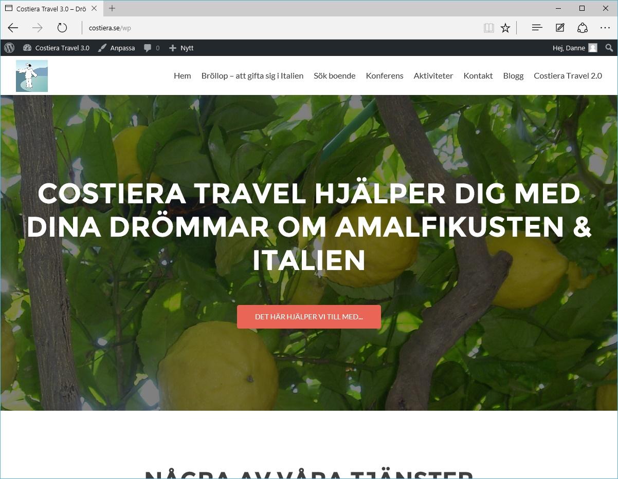 Costiera Travel hemsida 3.0 är här